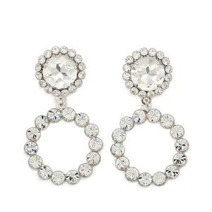 Alessandra rich crystal circle earrings new $500